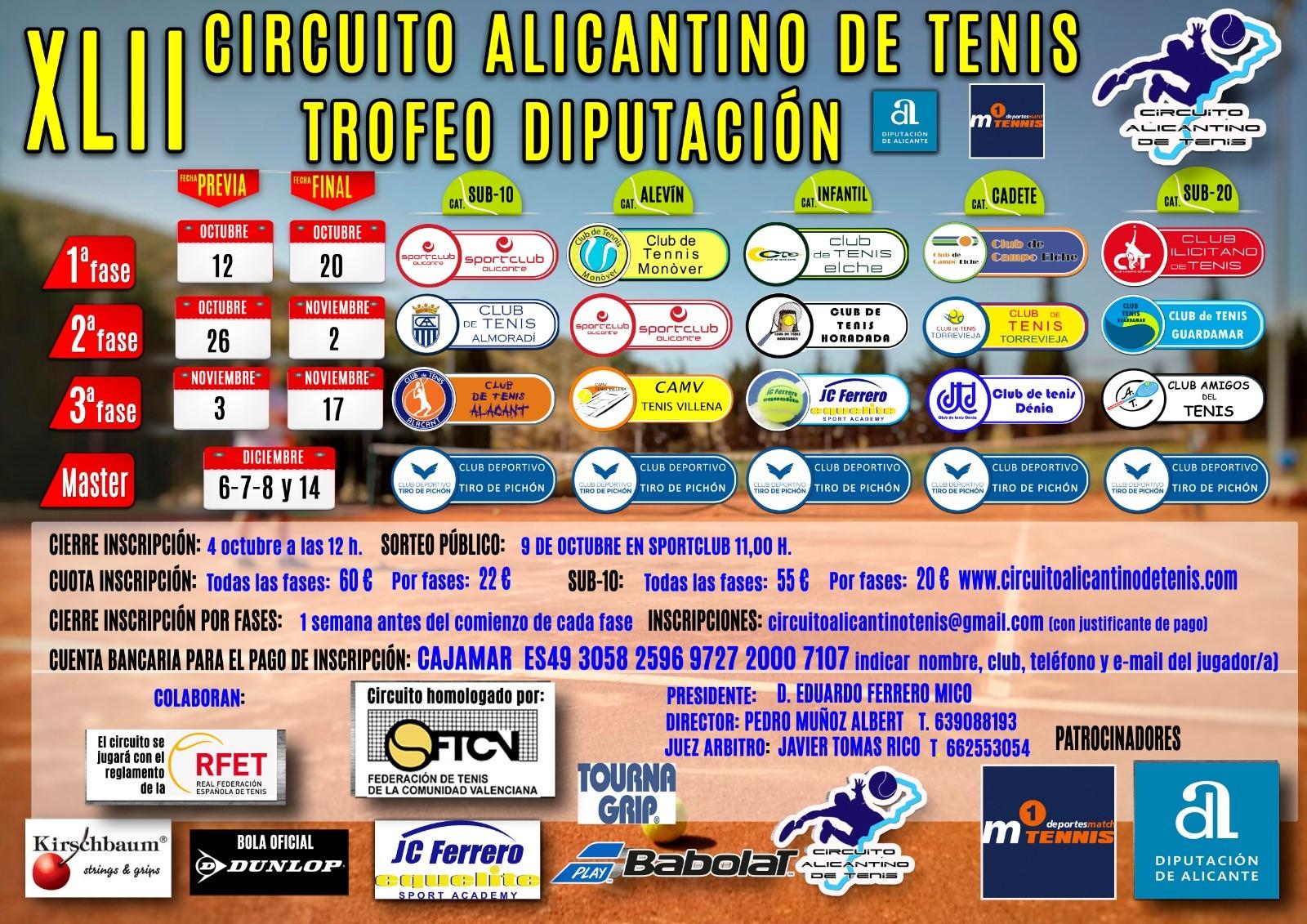 XLII Circuito Alicantino de tenis Trofeo Diputación